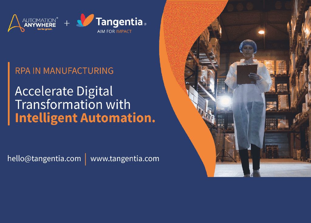 Tangentia Videos – Accelerate Digital Transformation with Intelligent Automation in Manufacturing